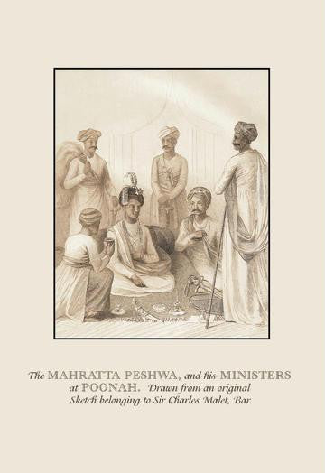 The Mahratta Peshwa and his Ministers at Poonah 12x18 Giclee on canvas
