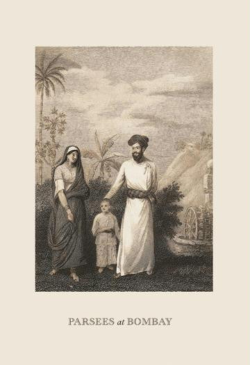 Parsees at Bombay 12x18 Giclee on canvas
