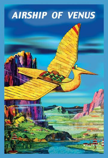 Airship of Venus 12x18 Giclee on canvas