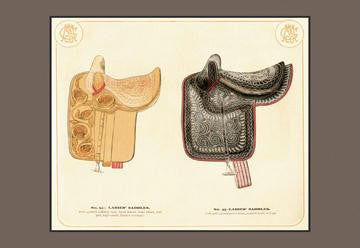 Ladies' Saddles #3 12x18 Giclee on canvas