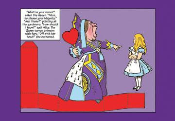 Alice in Wonderland: The Queen of Hearts 12x18 Giclee on canvas