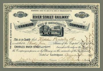 River Street Railway 12x18 Giclee on canvas