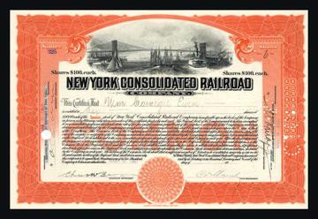 New York Consolidated Railroad Company 12x18 Giclee on canvas