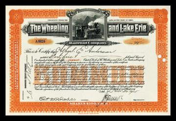 The Wheeling and Lake Erie Railroad Company 12x18 Giclee on canvas
