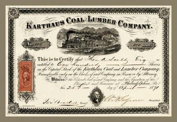 Karthus Coal and Lumber Company 12x18 Giclee on canvas