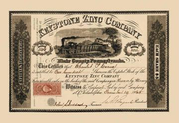 Keystone Zinc Company 12x18 Giclee on canvas