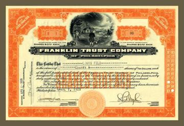 Franklin Trust Company #1 12x18 Giclee on canvas
