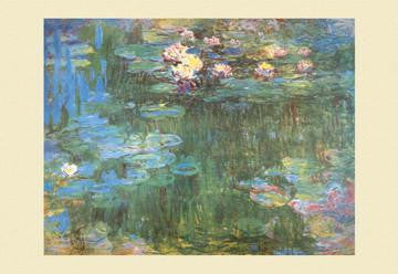Waterlilies  1918 12x18 Giclee on canvas