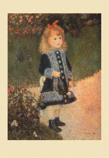 A Girl with a Watering Can 12x18 Giclee on canvas