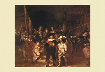 The Night Watch 12x18 Giclee on canvas