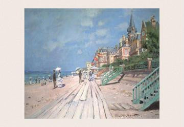 The Boardwalk at Trouville 12x18 Giclee on canvas