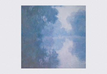 The Seine at Giverny  Morning Mists 12x18 Giclee on canvas