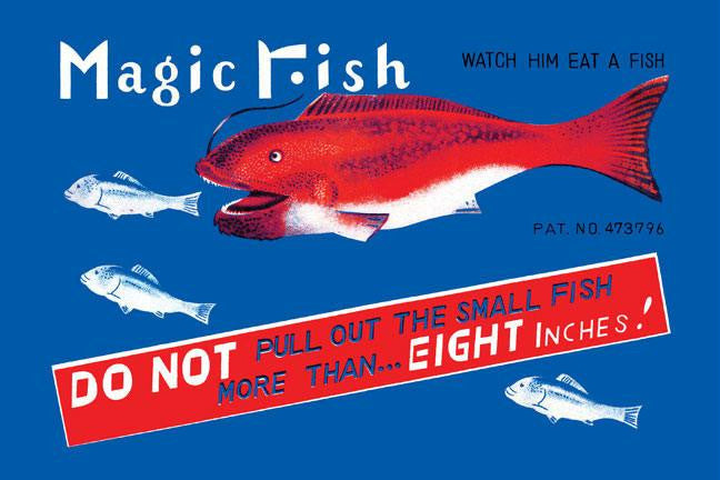 Magic Fish 12x18 Giclee on canvas