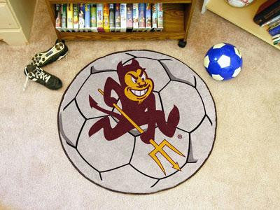 Arizona State University Soccer Ball Rug