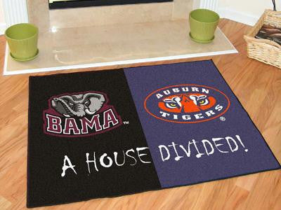 Alabama - Auburn All-Star House Divided Rug