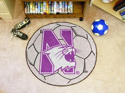 Northwestern University Soccer Ball Rug