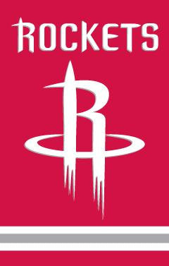 AFROC Houston Rockets 44x28 Applique Banner