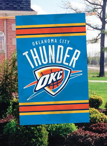 AFTHU Oklahoma City Thunder 44x28 Applique Banner