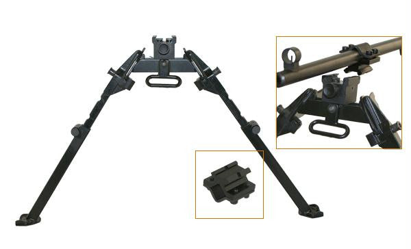NcStar M1A M14 Bipod With Weaver Quick Release Mount Universal Barrel Adapter Included