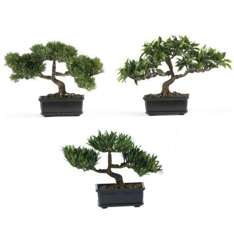 12 Inch Bonsai Silk Plant Collection (Set of 3)