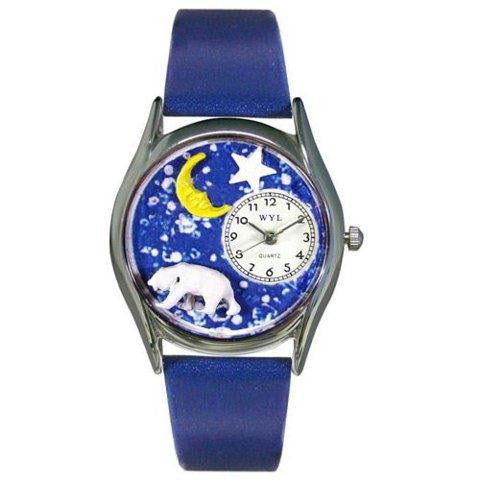 Whimsical Womens Polar Bear Royal Blue Leather Watch