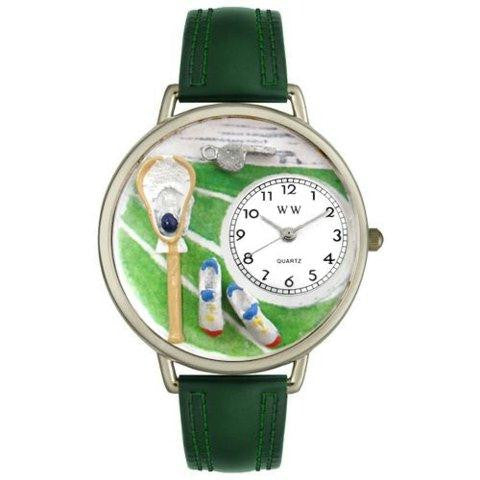 Whimsical Unisex Lacrosse Black Padded Leather Watch