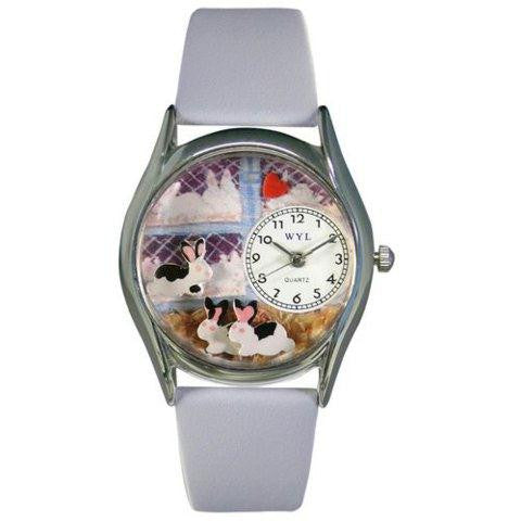Whimsical Womens Bunny Rabbit Baby Blue Leather Watch