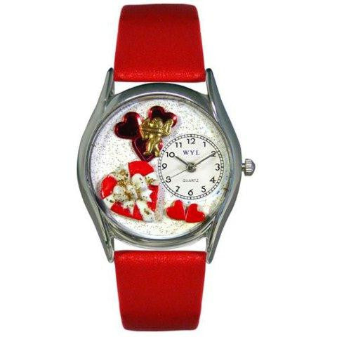 Whimsical Womens Valentines Day Red Red Leather Watch