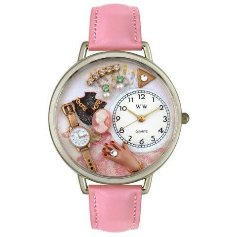 Whimsical Unisex Jewelry Lover Pink Pink Leather Watch