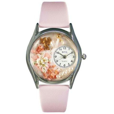 Whimsical Womens Valentines Day Pink Pink Leather Watch