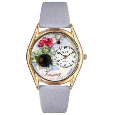 Whimsical Womens Birthstone: January Baby Blue Leather Watch