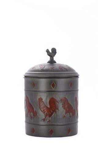 7 x 11 Rooster Cookie Jar w-Fresh Seal Cover 4Qt