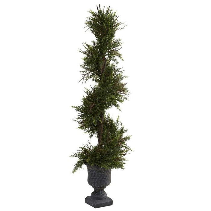 45 Inch Mini Pine Spiral w-Urn (Indoor-Outdoor)