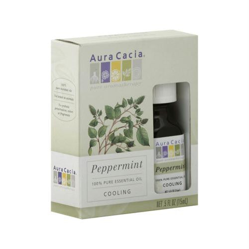 Aura Cacia Peppermint Pure Essential Oil - 0.5 fl oz - Case of 3