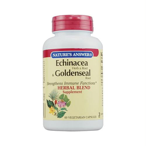 Natures Answer Echinacea and Goldenseal Root - 60 Vegetarian Capsules