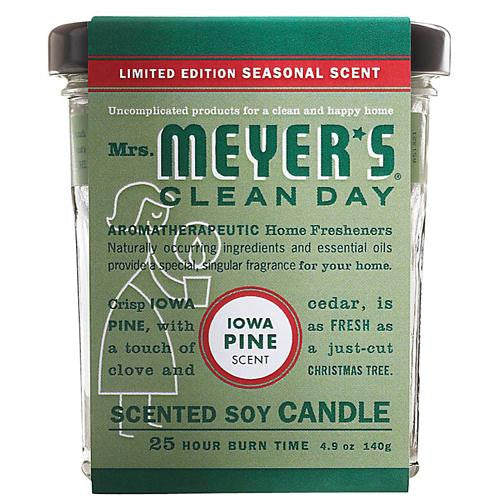 Mrs. Meyers Soy Candle - Iowa Pine - 4.9 oz - Case of 6