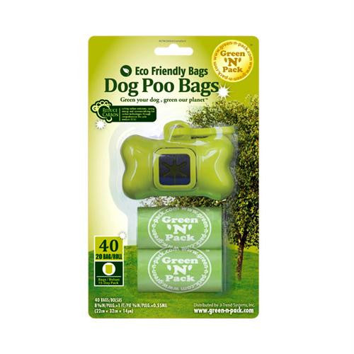 Eco-Friendly Bags Dog Poo Bags and Dispenser - 40 Pack