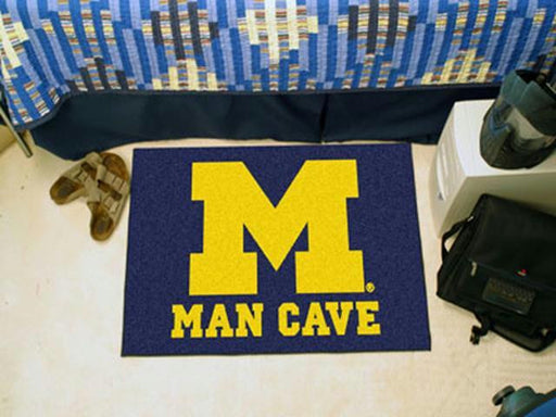 FanMats University of Michigan Man Cave Starter Rug 19x30