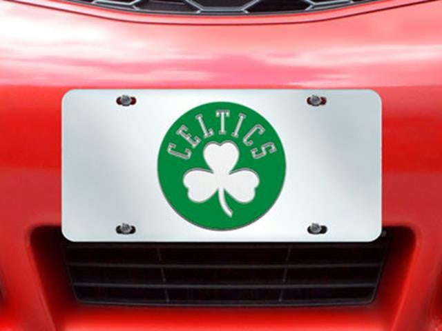 FanMats NBA-Boston Celtics License Plate Inlaid 6x12
