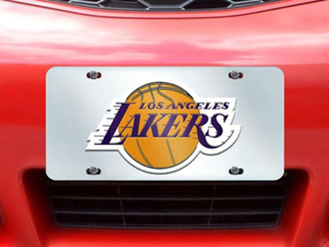 FanMats NBA-Los Angeles Lakers License Plate Inlaid 6x12