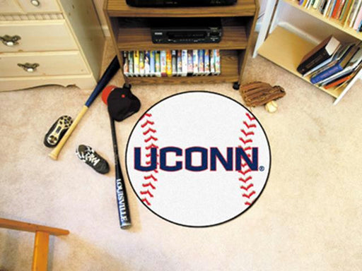 FanMats University of Connecticut Baseball Mat 26 diameter