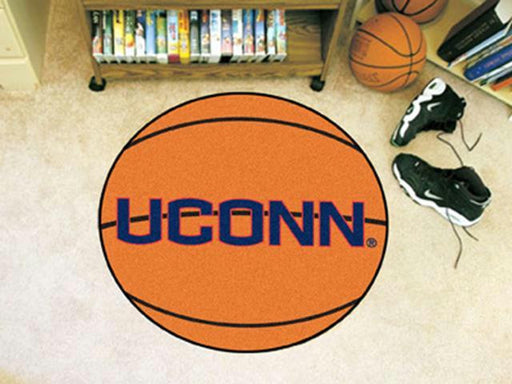 FanMats University of Connecticut Basketball Mat 26 diameter