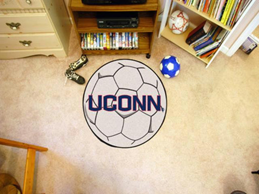FanMats University of Connecticut Soccer Ball Rug