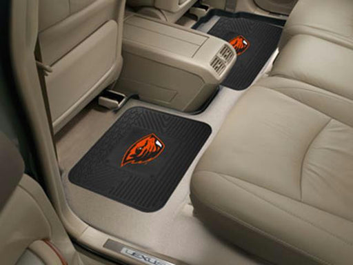 FanMats Oregon State University  Backseat Utility Mats 2 Pack 14x17