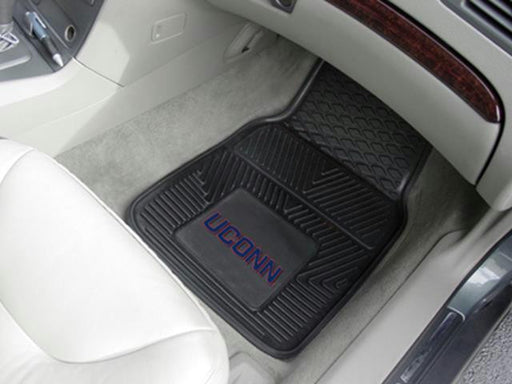 FanMats University of Connecticut 2-pc Vinyl Car Mat Set