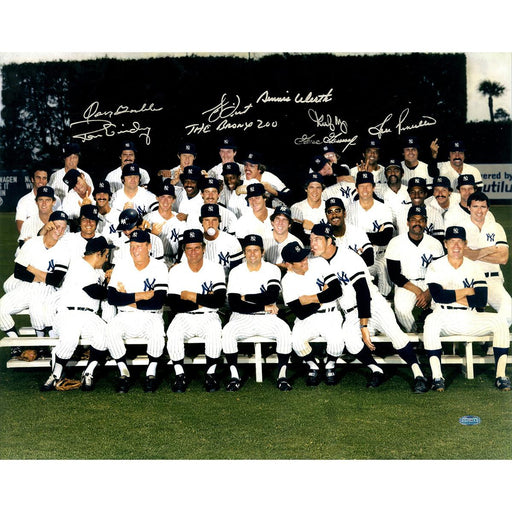 1978 New York Yankees Multi-Signed 16x20 Finger Team Photo GossageGuidryPiniellaDent The Bronx ZooGambleMayWerth