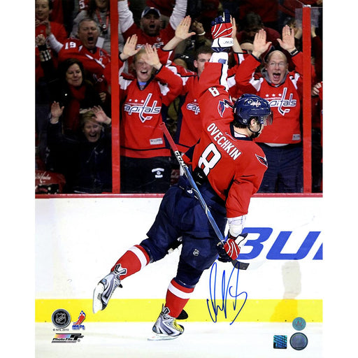 Alexander Ovechkin Washington Capitals Signed Reverse Celebration 16x20 Photo (AJ Sports Auth)
