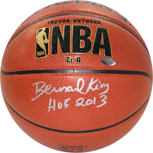 Bernard King IndoorOutdoor ZiO Basketball w HOF Insc (Signed in Silver)