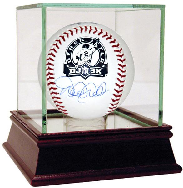 "Derek Jeter Signed 3000th Hit Rawlings ""DJ3K"" Logo Baseball With Case"