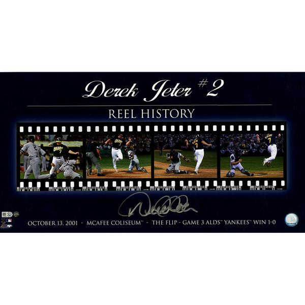"Derek Jeter ""The Flip"" Filmstrip Collage 12x23 Photo"